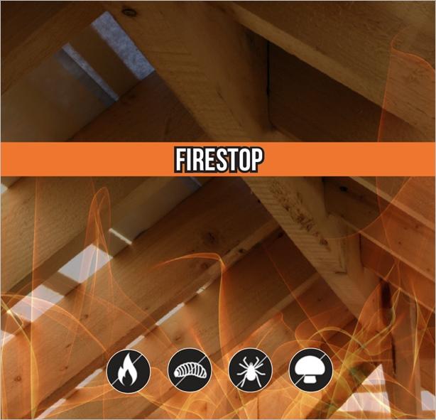 Огнезащита на дървен материал с Firestop