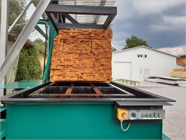 Импрегниране на дървен материал във вана със забавител на горене Firestop