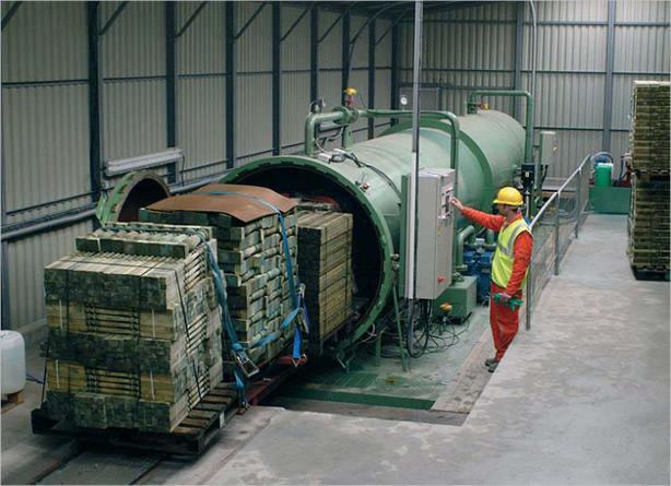 Импрегниране на дървен материал в автоклав