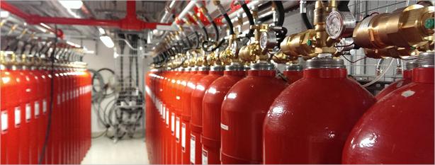Гасителна система, използваща чисти газови агенти
