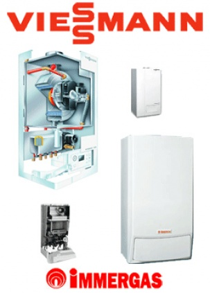 Wall-mounted gas boilers - Viessmann (Germany), Immergas (It