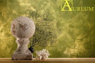 AUREUM - декоративна интериорна мазилка със златист ефект