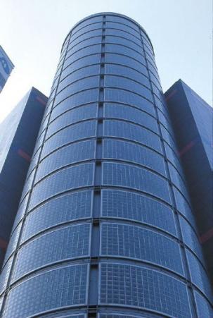 Окачени фасади - стъклени тухли