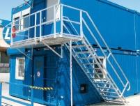 Алуминиева стълба с платформа
