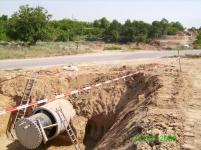 Преминаване на водопроводни тръби под път