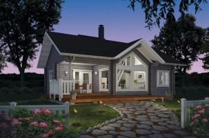 Дървена къща модел Soihtu 70 4A