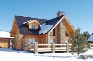 Дървена къща модел Lumikello