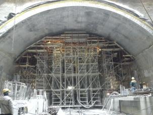 Кофраж за тунел на метростанция