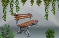 Градинска пейка - каталожен номер 457