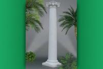 Римска колона - цяла, гладка