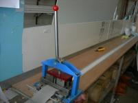 Преса за рязане и пробиване на плат за вертикални щори