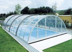 Телескопични покривни конструкции за басейни