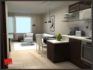 Проект на кухня, трапезария и хол