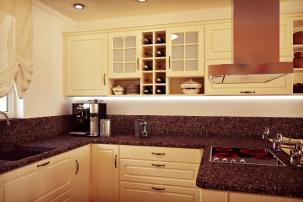 Проект на кухня в къща - класически стил