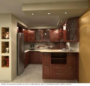 3D проект на кухня MDF