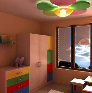 Обзавеждане на детска стая и проект на окачен таван