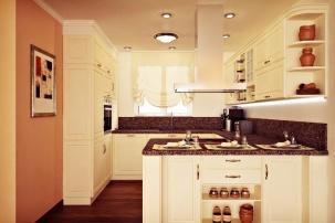 """Интериорен проект на кухня в """"класически"""" стил"""