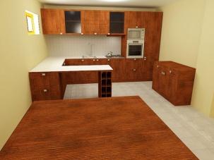Проект на кухня от МДФ фурнир