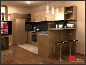 Проект на кухня с бар плот