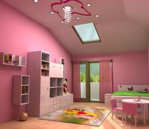 Интериорен проект на детска стая за момиче