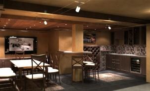 Интериорен проект на винарна в къща