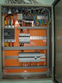 Електрооборудване на шкаф за управление