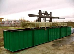 Вани за топене на дървен материал
