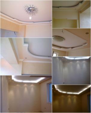 Окачен таван в частен дом