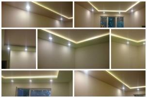Окачен таван и осветление