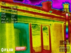 Термографско обследване на къща