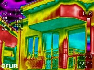 Термографско обследване на сгради за загуба на топлина
