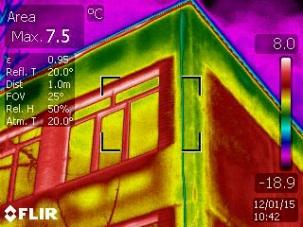 Извършване на одит на сгради с термографска камера