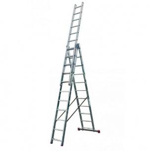 Трираменна професионална алуминиева стълба Krause Corda
