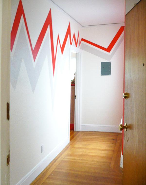 Покраска стен в полоску дом мечты