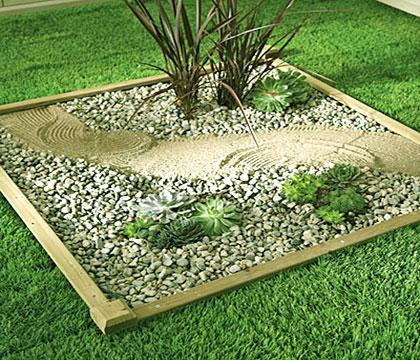 Зен градина в двора или на терасата