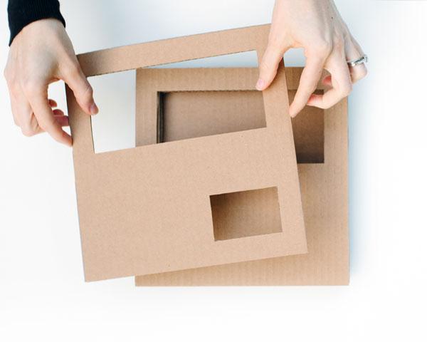 Картонный настольный органайзер - подставка для всякой всячины Handmadeidea