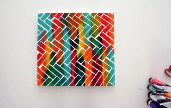 Лесна цветна картина за стената