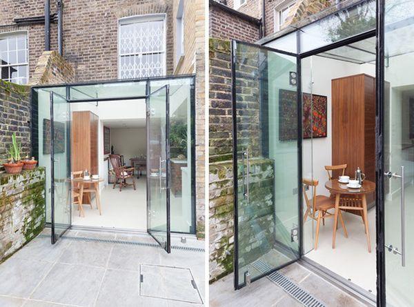 8 къщи със стъклени разширения