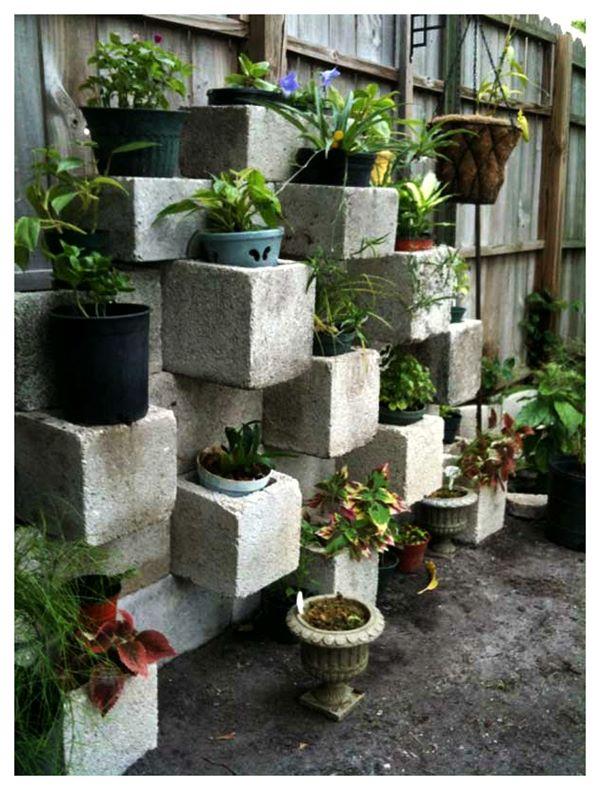 Още една идея с бетонни блокчета