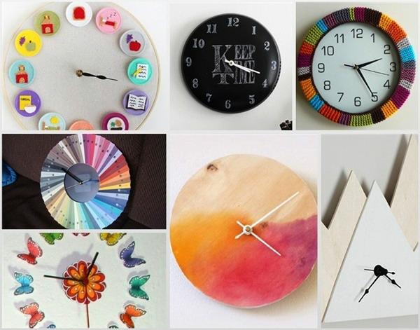 Направи си сам: идеи за часовници