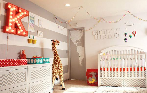 20 прекрасни детски стаи с раирани стени