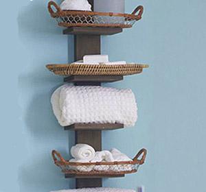 От дърво,шперплат и корк Storage-tip-bathroom-shelf_