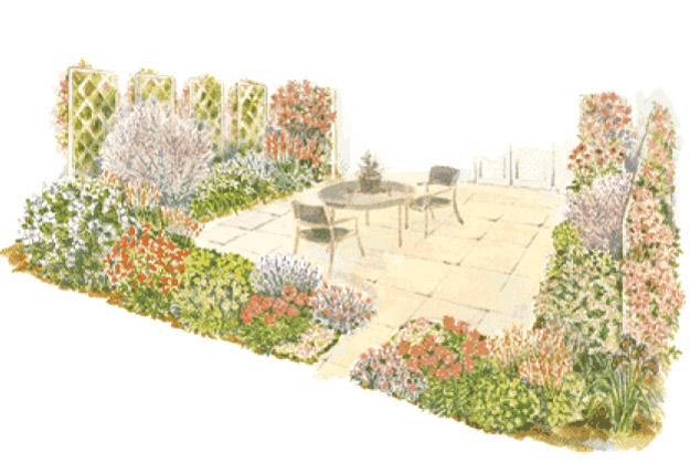 Слънчева градинка пред дома Patio_garden2