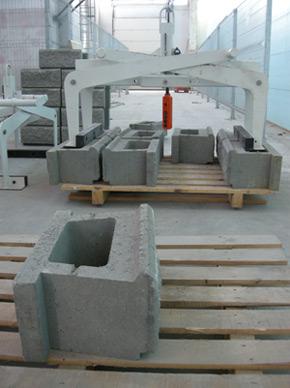 Сегментен блок за изграждане на подпорни стени