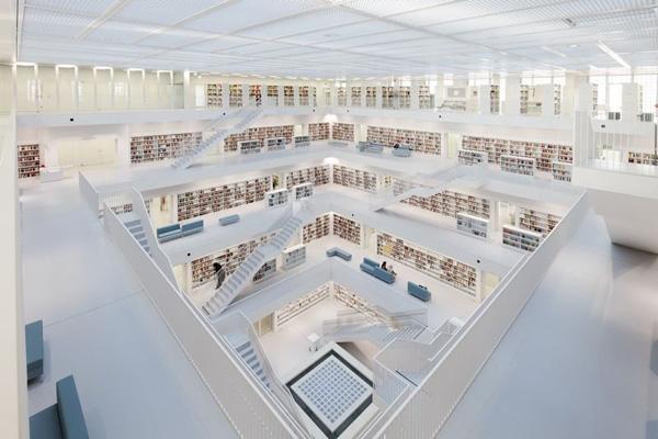 Новата градска библиотека в Щутгарт