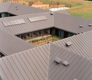 'Метален' покрив от PVC хидроизолация