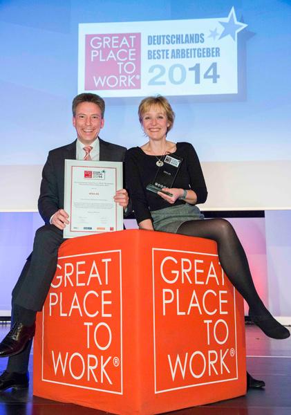 VEKA с приз на конкурса 'Най-добър работодател в Германия за 2014 година'