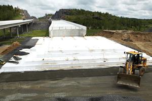Професионално геотехническо изолиране на екстремно натоварени площи с Термофлекс EPS W-55