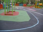 Ударопоглъщаща каучукова настилка за детски площадки