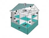 Депрон - плоскости за вътрешна изолация с приложение от пода до тавана